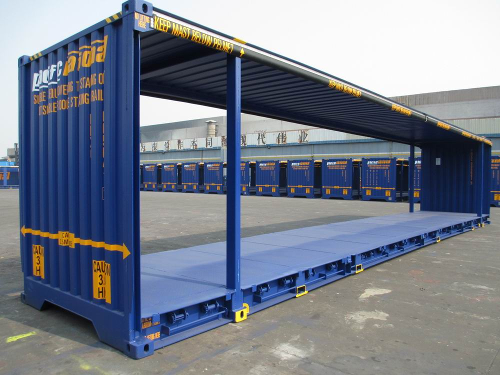 Curtainsider mezzdeck shipping container