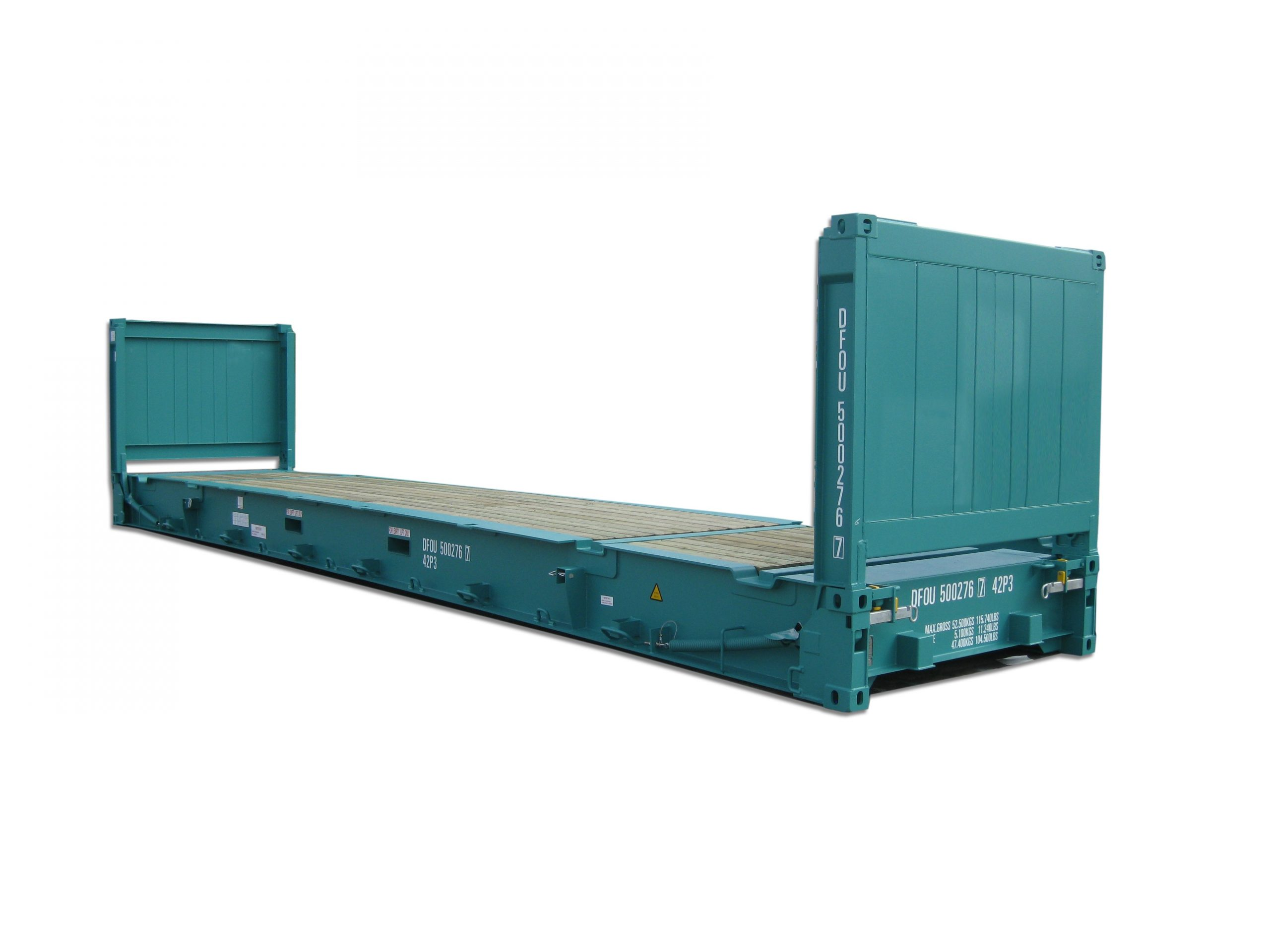 open transi flat flat rack shipping container